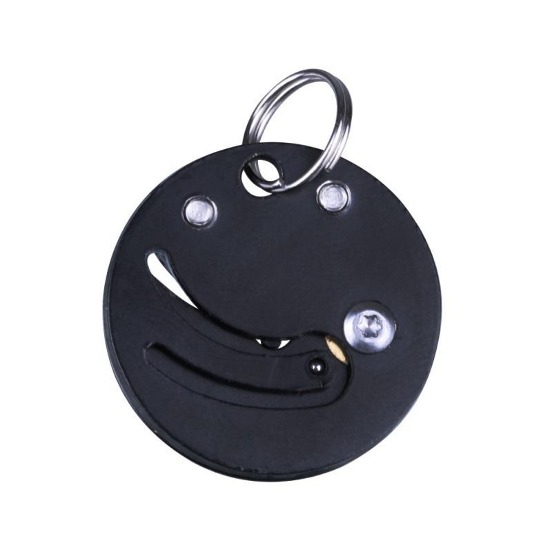 Coin-Knife-Keychain-Folding-Pocket-Camping-Hiking-EDC-Blade-Survival-Mini-Tools thumbnail 11