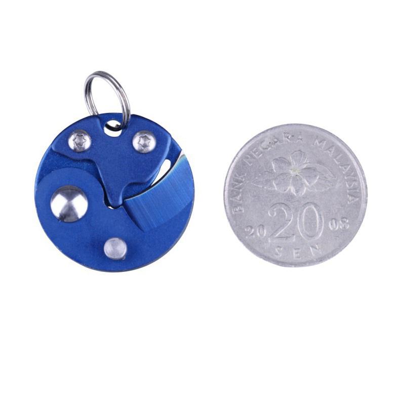 Coin-Knife-Keychain-Folding-Pocket-Camping-Hiking-EDC-Blade-Survival-Mini-Tools thumbnail 27