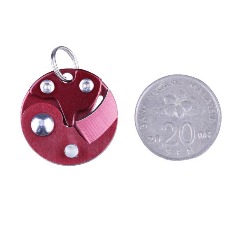 Coin-Knife-Keychain-Folding-Pocket-Camping-Hiking-EDC-Blade-Survival-Mini-Tools thumbnail 22