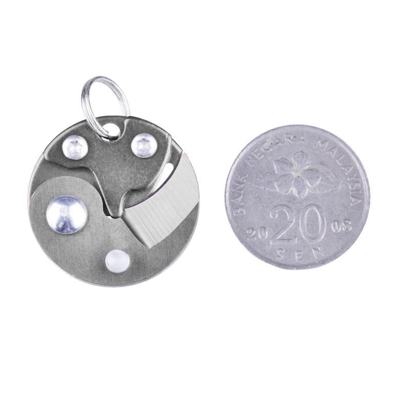 Coin-Knife-Keychain-Folding-Pocket-Camping-Hiking-EDC-Blade-Survival-Mini-Tools thumbnail 17